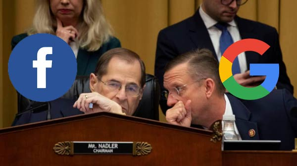 Facebook and Google asked to appear before House Judiciary panel