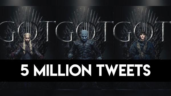 Game of Thrones Season 8 garners over 5 Million reaction on Twitter