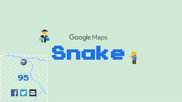 How to Play Classic Snake Game on Google Maps on your phone