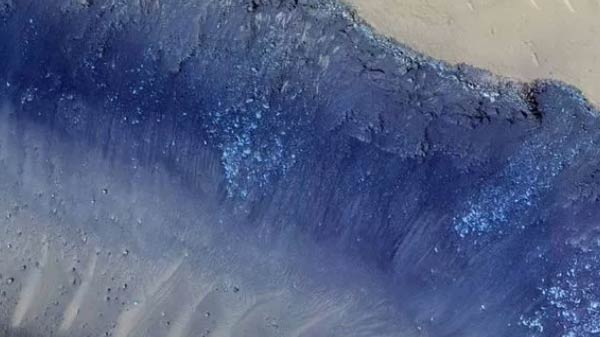 NASA releases astounding image of landslides on Mars
