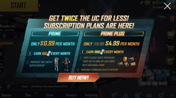 PUBG Mobile brings Prime Subscriptions with in-game discounts at Rs 79
