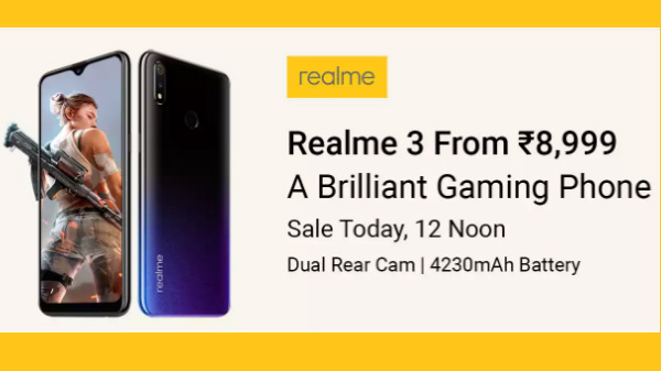 2c2a3fa58 Realme 3 latest flash sale  Now available for Rs 8