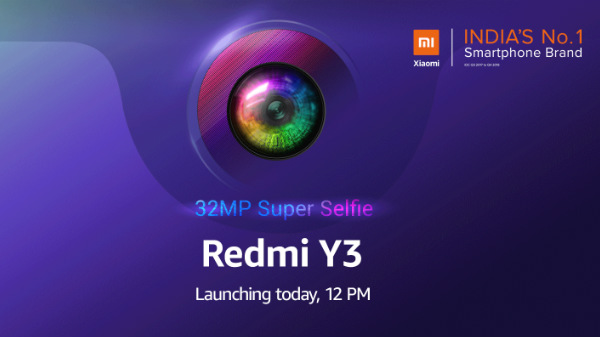 Redmi Y3 with 32MP selfie camera India launch today