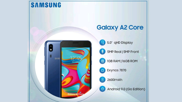 Samsung Galaxy A2 Core officially launched for Rs 5290: Android Go