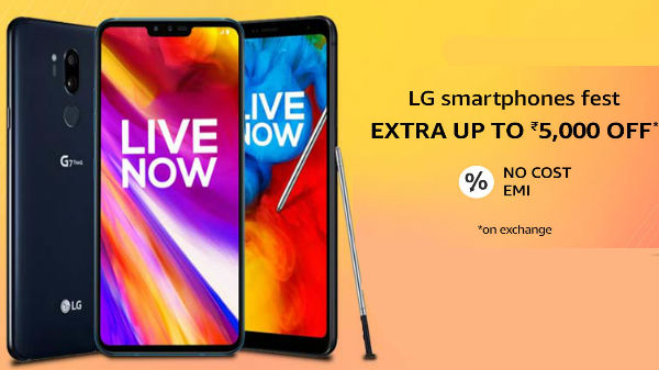 32705ecae9e Amazon LG Smartphones Fest  Upto Rs 5000 off and EMI offers on LG V40  ThinQ