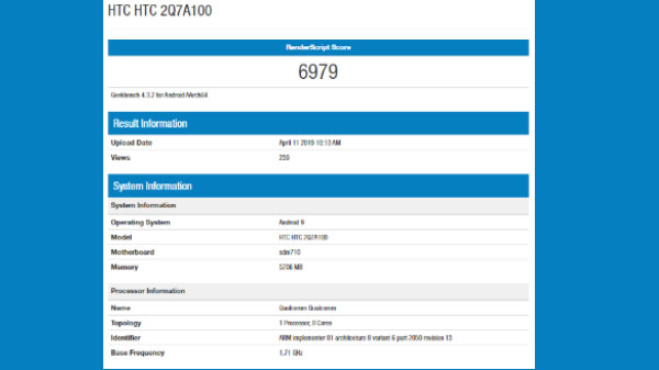 Mysterious HTC smartphone spotted on Geekbench with SD710 and more