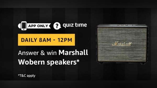 Amazon Quiz contest will get you a Marshall Wobern speakers