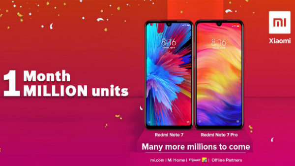 Redmi Note 7 series sales surpass 1 million units in India in a month