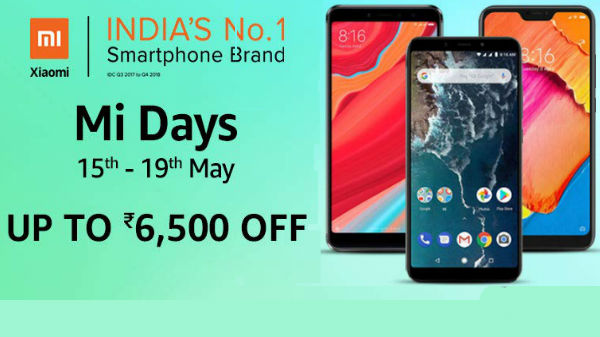 Amazon Mi Day Sale: Redmi 6a, Redmi Y2, Redmi 6 Pro, Mi a2 and more