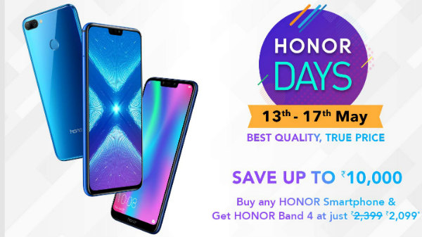 Amazon Honor DAY Sale 13th to 17th: Honor 8X, Honor Play and more