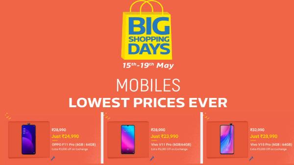 Flipkart Big Shopping Days sale offers on high-end smartphones
