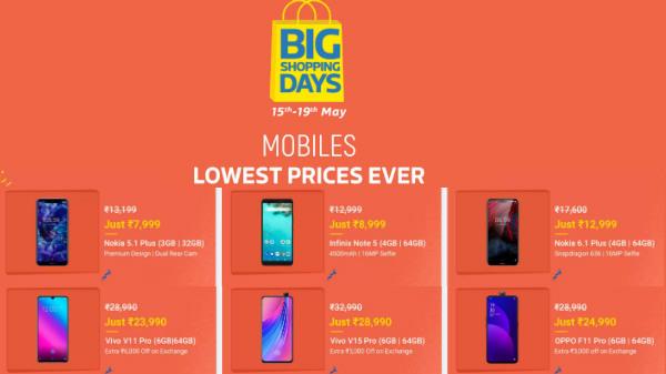 Flipkart Big Shopping Days Sale: Get special discounts on smartphones