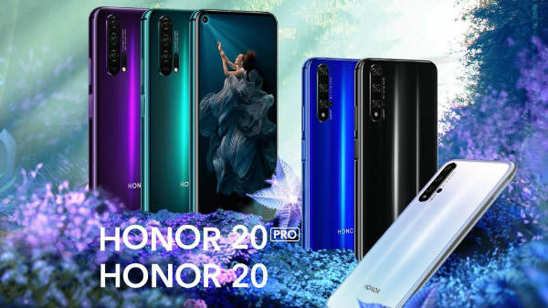 Honor 20, Honor 20 Pro, Honor 20 Lite announced with quad cameras