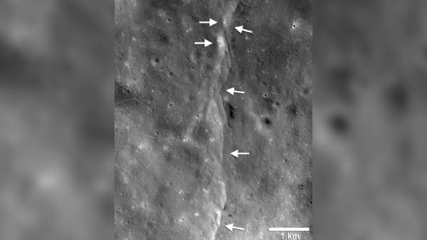 NASA study reveals Moon shrinks continuously causing quakes on surface