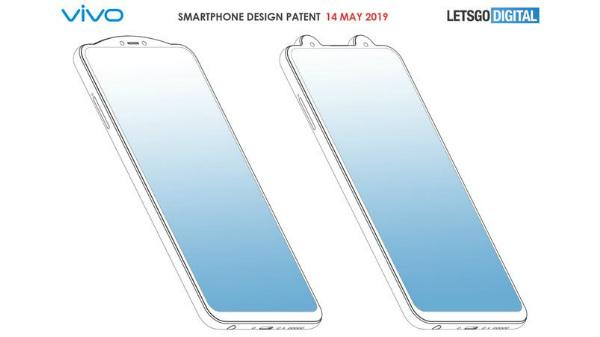 Vivo patent shows smartphones with reverse notch design