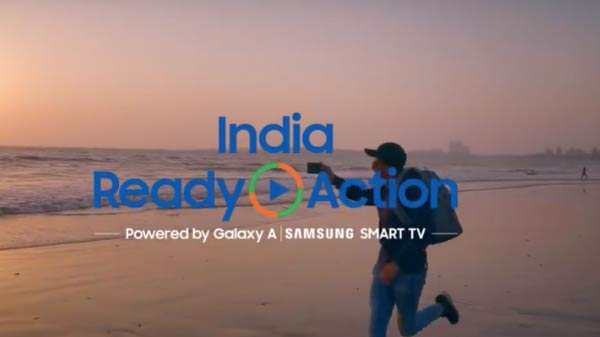 Samsung India, Ready Action: Win Galaxy smartphones and Smart TVs  by posting videos