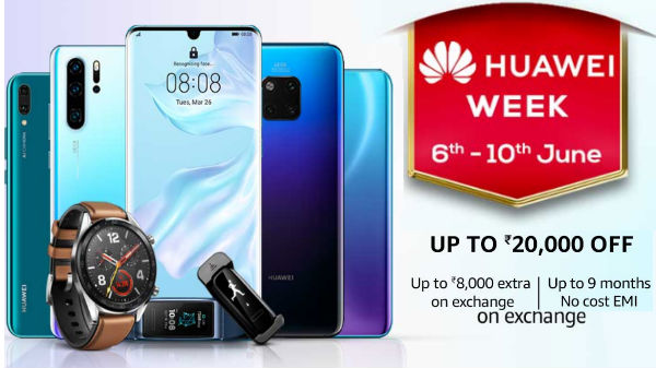 Huawei Week On Amazon – Get Up To Rs 20,000 off on smartphones