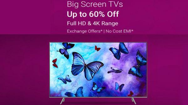 Flipkart TV Sale – Buy Big Screen TVs At Up To 60% Discount
