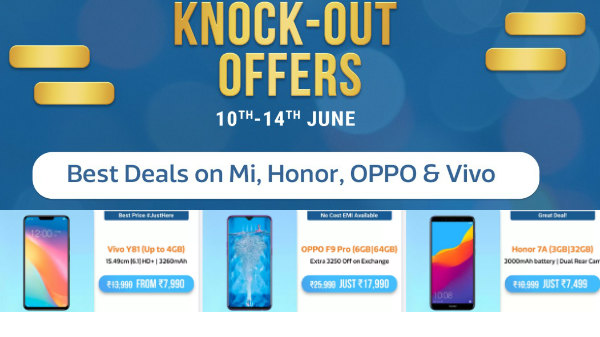 Flipkart Knock Out Offers - Honor 9i, Redmi Note 7S, Oppo K1 And More