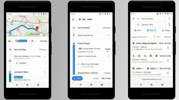 Google Maps Update – Check Live Train Status, Bus Travel Time And More