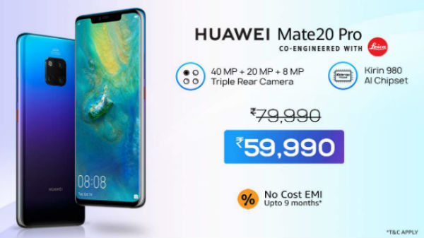 653fbd5a88a Huawei Week Offer On Amazon – Discount On Select Huawei Smartphones - Gizbot  News