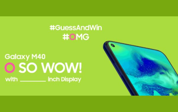 Samsung Galaxy M40 All Set To Launch Today In India - Price & Specs