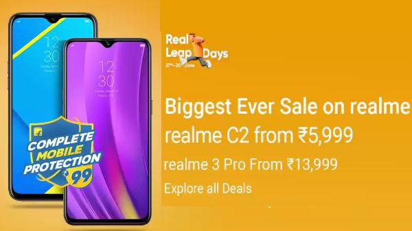 Realme Leap Days Offers On Flipkart – Get Realme phones On Discounts