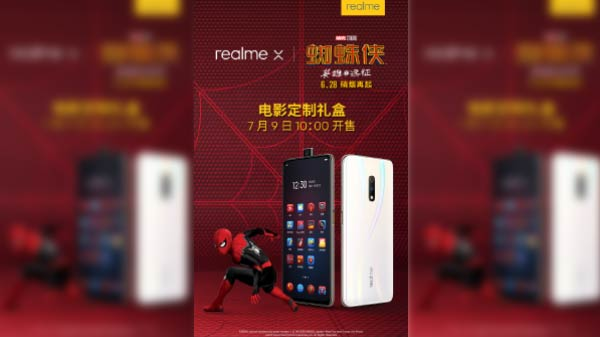 Realme X Spider-Man Edition Launch Confirmed For July 9