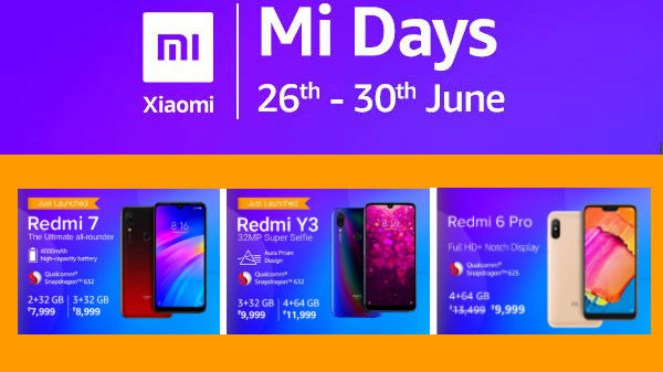 Amazon Mi Day Sale Offers – Buy Redmi 7, Redmi Y3, Redmi 6A And More