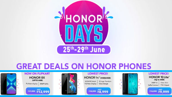 Flipkart Honor Day Sale (June 25 to 29) – Get Discounts On Honor 20, Honor 20i, Honor 9N And More