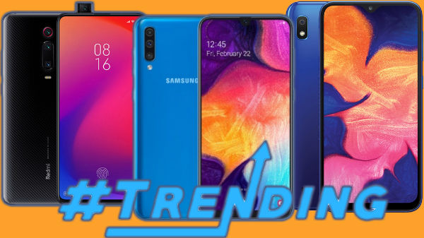Most Trending Smartphones of Last Week – Galaxy A50, A70, Xiaomi Mi 9T, Motorola One Pro And More