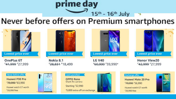 Amazon Prime Day Offers On Premium Smartphones