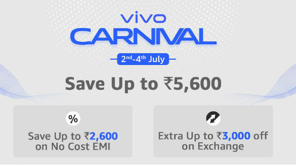 Amazon Vivo Carnival Offers On Vivo V15, Vivo V11 Pro, Y15 And More