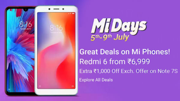 Flipkart Mi Day Sale Offers – Redmi Note 7 Pro, Poco F1 And More