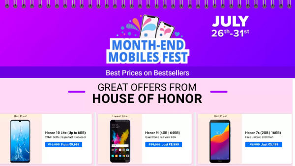 Flipkart Month End Sale Offers – Buy Honor Smartphones On Discount