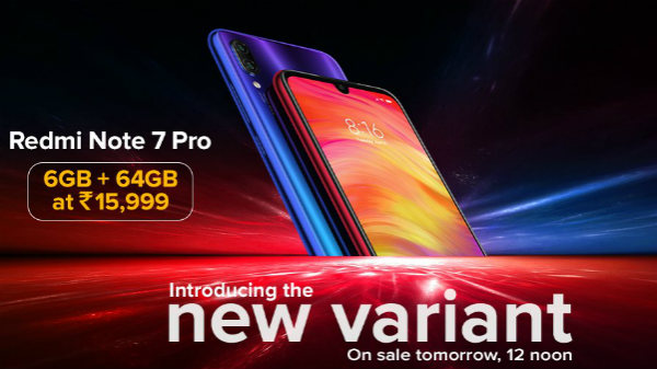 Redmi Note 7 Pro New Variant Launched In India