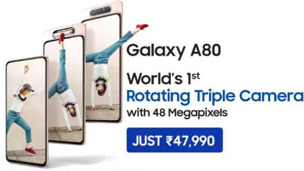 Samsung A80 Pre-Order Debuts In India – Other Pop-Up Camera Phones