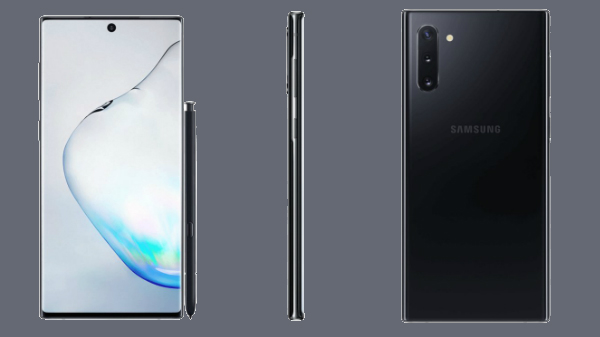 Samsung Galaxy Note 10 Official Renders Leaked With No Headphone Jack