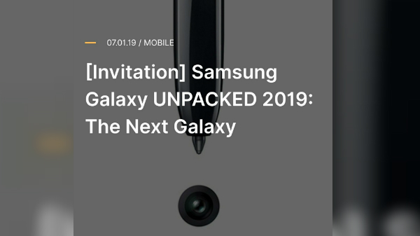 Samsung To Launch The Next Flagship Galaxy Note 10 On August 7th