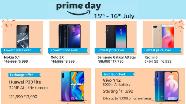 Amazon Prime Day Sale – Get 50% Off Galaxy A8 And Other Smartphones