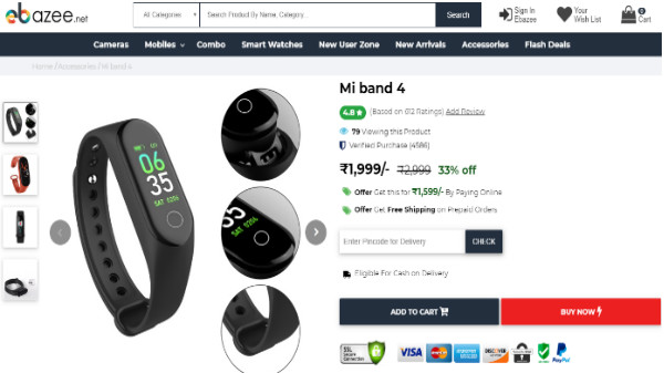Xiaomi Mi Band 4 Listed In India For Rs. 1,999 But We Have Our Doubts