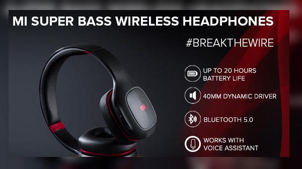 Xiaomi Mi Super Bass Wireless Headphones Launched In India