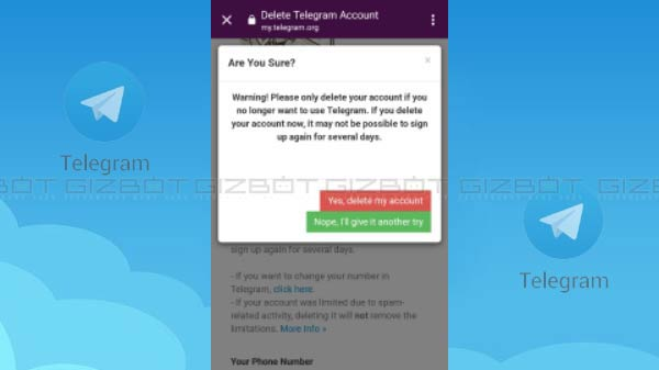 How To Delete/Deactivate Telegram Account From Any Device