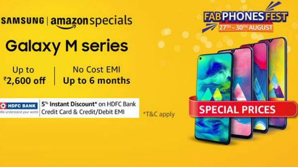 Amazon Fab Phone Fest – Discounts On Samsung Galaxy M Series Phones