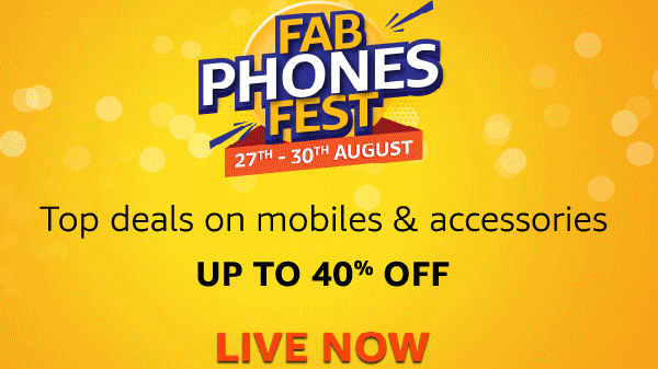 Amazon Fab Phones Fest – Smartphones Available At Up To 40% Off