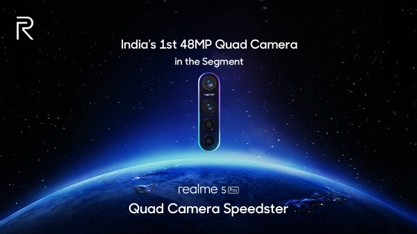 Realme 5 Pro Teaser Confirms 48MP Quad-Camera Arrangement