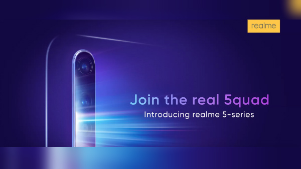Realme 5 With Quad-Camera To Launch On August 20th In India