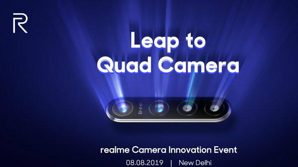 Realme To Showcase 64MP Quad Camera Smartphone On August 8