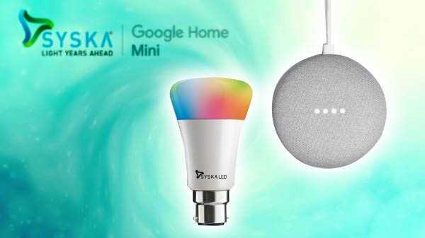 Syska Google Home Mini Combo Launched In India For Rs. 5,499