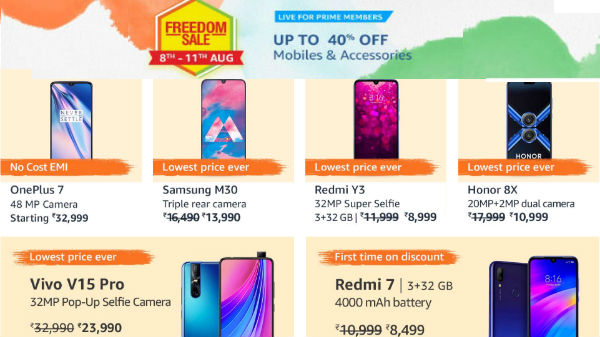 Amazon Freedom Sale 2019– Get Heavy Discounts Up To 50% On Smartphones